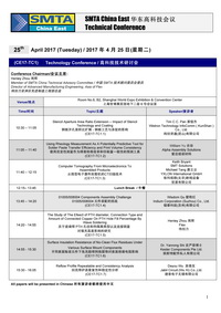 Call for Papers SMTA China Conference 2017